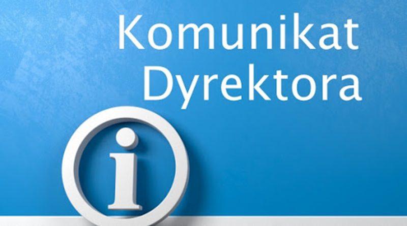 ORGANIZACJA PRACY W SZKOLE OD PONIEDZIAŁKU 26.10.2020